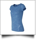 Bella + Canvas Ladies' Burnout T-Shirt Embroidery Blanks - STEEL BLUE