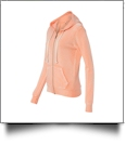 MV Sport Ladies' Angel Fleece Sanded Full-Zip Hooded Sweatshirt Jacket Embroidery Blanks - DEEP CORAL