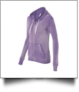 MV Sport Ladies' Angel Fleece Sanded Full-Zip Hooded Sweatshirt Jacket Embroidery Blanks - ORCHID