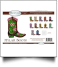 Boots Mylar Embroidery Designs by Purely Gates Embroidery