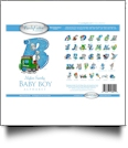 Swirly Baby Boy Mylar Embroidery Designs by Purely Gates Embroidery