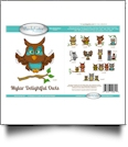 Delightful Owls Mylar Embroidery Designs by Purely Gates Embroidery