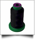 0020 Black Isacord Embroidery Thread - 1000 Meter Spool
