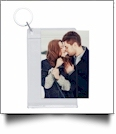 "Standard Slip-in Photo Keychain - 2.5"" x 3.5"" Acrylic Embroidery Blank - CLOSEOUT"