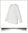 Rabbit Skins Toddler Long Sleeve Embroidery Blank - WHITE