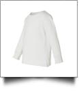 Rabbit Skins Toddler Long Sleeve Embroidery Blank - WHITE 2T - IRREGULAR