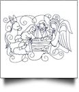 Enchanted Nativity Embroidery Designs by Sealed With a Stitch