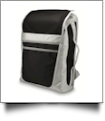 21 Inch Laptop Backpack Embroidery Blanks - BLACK/GRAY