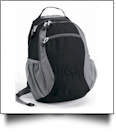 Campus Backpack by Liberty Bags Embroidery Blanks - BLACK/GRAY
