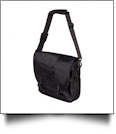 Messenger Bag by Liberty Bags Embroidery Blanks - BLACK/BLACK