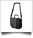 Messenger Bag by Liberty Bags Embroidery Blanks - BLACK/GRAY