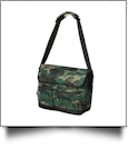 23L Outlander Shoulder Bag by Puma Embroidery Blanks - CAMO/BLACK