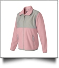 Weatherproof Ladies' Colorblock Beacon Jacket Embroidery Blanks - PINK/GRAY