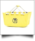 Foldable Market Tote Embroidery Blanks - YELLOW