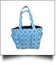The Coral Palms® Canvas Craft & Garden Multi-Purpose Carry-All Tote - AQUA - CLOSEOUT