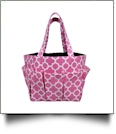 The Coral Palms� Canvas Craft & Garden Multi-Purpose Carry-All Tote - PINK - CLOSEOUT