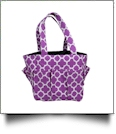 The Coral Palms� Canvas Craft & Garden Multi-Purpose Carry-All Tote - PURPLE - CLOSEOUT