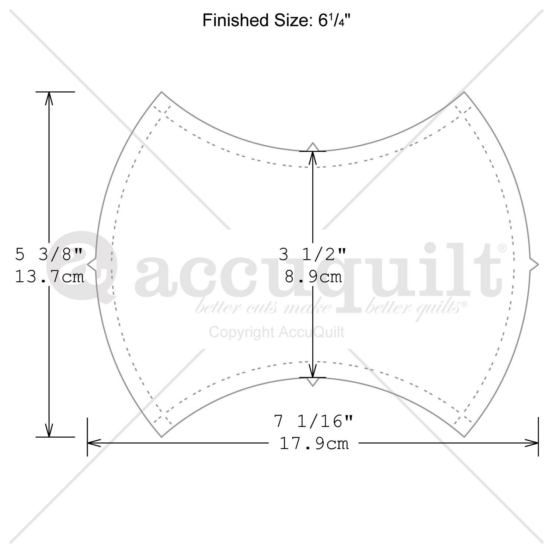 Accuquilt Go Fabric Cutter Apple Core 6 25 Quot Quilt Die 55036