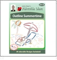 Outline Summertime Embroidery Designs by John Deer's Adorable Ideas - Multi-Format CD-ROM