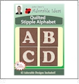 Quilted Stipple Alphabet Embroidery Designs by John Deer's Adorable Ideas - Multi-Format CD-ROM