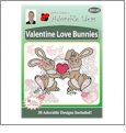 Valentine Love Bunnies Embroidery Designs by John Deer's Adorable Ideas - Multi-Format CD-ROM