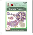 Vintage Flowers Embroidery Designs by John Deer's Adorable Ideas - Multi-Format CD-ROM