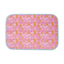 The Coral Palms� Swimsuit Saver Roll-up Neoprene Mat - So Zebralicious Collection