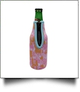 The Coral Palms® 12oz Long Neck Zipper Neoprene Bottle Coolie - So Zebralicious Collection