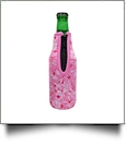 The Coral Palms® 12oz Long Neck Zipper Neoprene Bottle Coolie - Foxy Floral Collection
