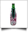 The Coral Palms� 12oz Long Neck Zipper Neoprene Bottle Coolie - Spotted Ya! Collection