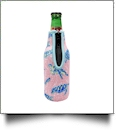 The Coral Palms® 12oz Long Neck Zipper Neoprene Bottle Coolie - Solely Sea Turtles Collection