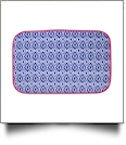 The Coral Palms® Swimsuit Saver Roll-up Neoprene Mat - Blue Ikat Ogee Collection