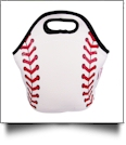 The Coral Palms® Baseball Print Neoprene Lunch Tote