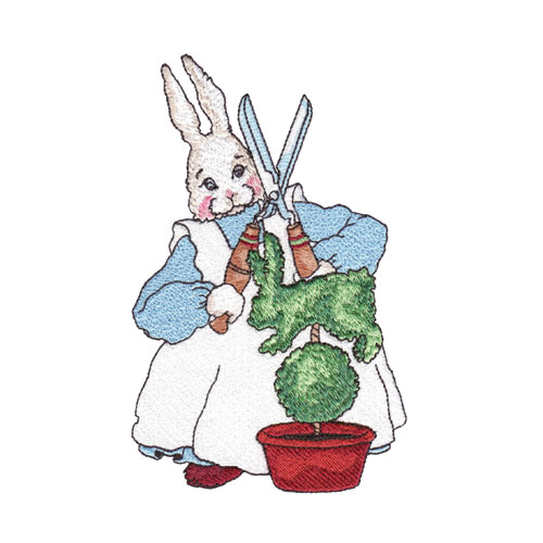 Rabbits In My Garden Embroidery Designs by Amazing Designs