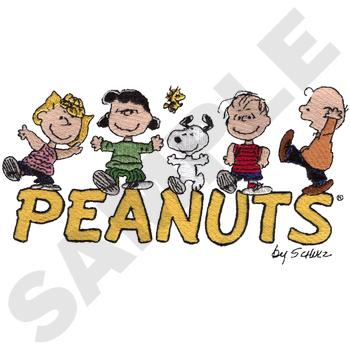 Peanuts gang embroidery designs on a multi format cd rom ls0602