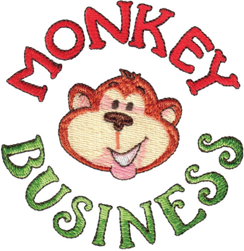 Theres No Business Like Monkey Business Monkey Around Embroidery