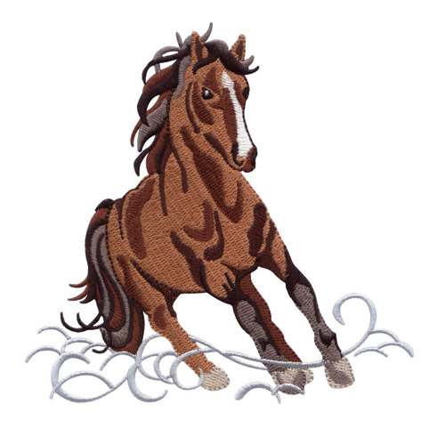 Wild Horses Embroidery Designs By Amazing Designs Bred To
