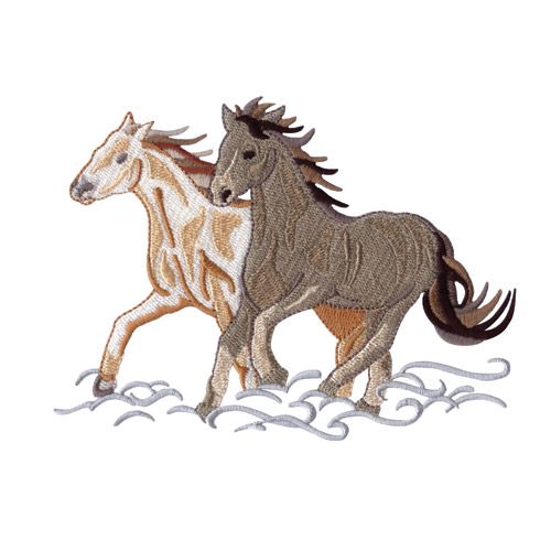 Wild Horses Embroidery Designs By Amazing Designs On A Multi Format