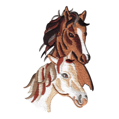Wild horses embroidery designs by amazing on a