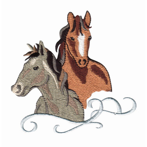 Wild Horses Embroidery Designs By Amazing Designs On A
