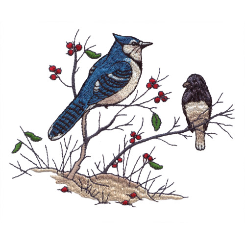 Perched Birds Embroidery Designs By Giordano Studios For Amazing