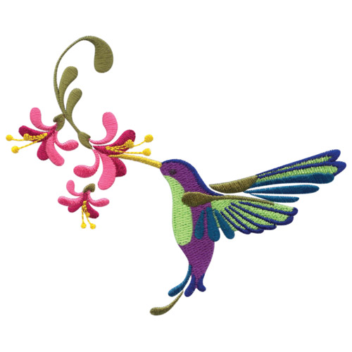 Hummingbird Garden Embroidery Designs For Amazing Designs On A