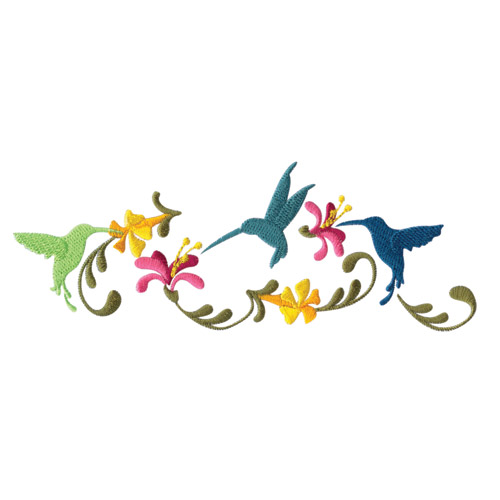 Hummingbird Garden Embroidery Designs for Amazing Designs